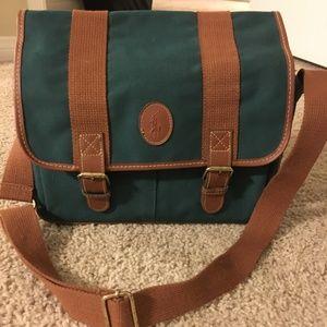 RALPH LAUREN Bag — Vintage 1990s RL Messenger Bag